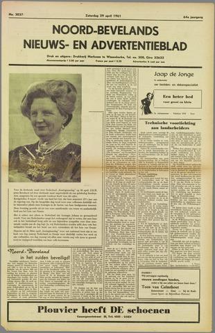 Noord-Bevelands Nieuws- en advertentieblad 1961-04-29