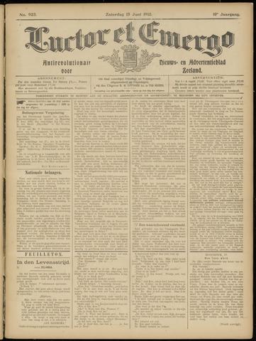 Luctor et Emergo. Antirevolutionair nieuws- en advertentieblad voor Zeeland / Zeeuwsch-Vlaanderen. Orgaan ter verspreiding van de christelijke beginselen in Zeeuwsch-Vlaanderen 1912-06-15