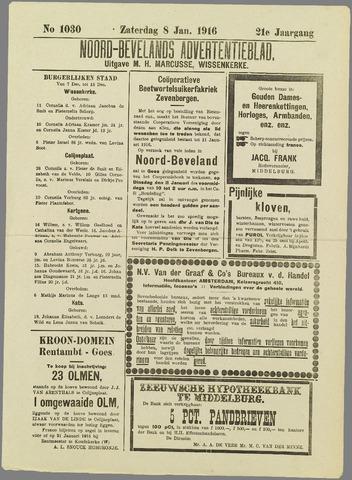 Noord-Bevelands Nieuws- en advertentieblad 1916