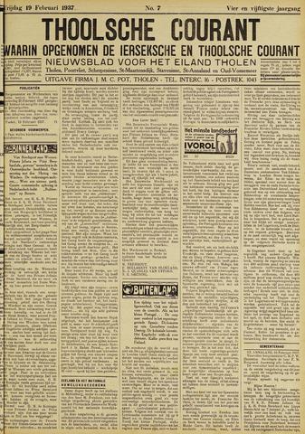 Ierseksche en Thoolsche Courant 1937-02-19