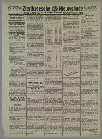 Zierikzeesche Nieuwsbode 1933-04-07