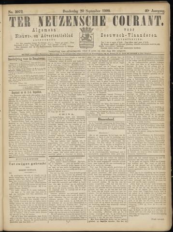 Ter Neuzensche Courant. Algemeen Nieuws- en Advertentieblad voor Zeeuwsch-Vlaanderen / Neuzensche Courant ... (idem) / (Algemeen) nieuws en advertentieblad voor Zeeuwsch-Vlaanderen 1900-09-20