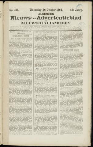Ter Neuzensche Courant. Algemeen Nieuws- en Advertentieblad voor Zeeuwsch-Vlaanderen / Neuzensche Courant ... (idem) / (Algemeen) nieuws en advertentieblad voor Zeeuwsch-Vlaanderen 1864-10-26