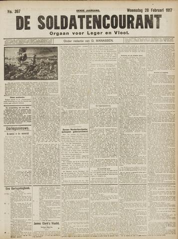 De Soldatencourant. Orgaan voor Leger en Vloot 1917-02-28
