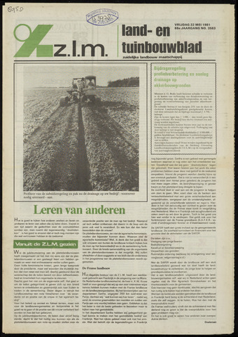 Zeeuwsch landbouwblad ... ZLM land- en tuinbouwblad 1981-05-22