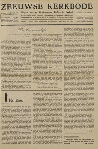 Zeeuwsche kerkbode, weekblad gewijd aan de belangen der gereformeerde kerken/ Zeeuwsch kerkblad 1948-10-22