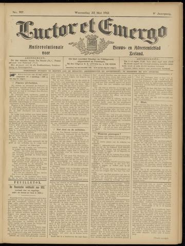 Luctor et Emergo. Antirevolutionair nieuws- en advertentieblad voor Zeeland / Zeeuwsch-Vlaanderen. Orgaan ter verspreiding van de christelijke beginselen in Zeeuwsch-Vlaanderen 1912-05-22