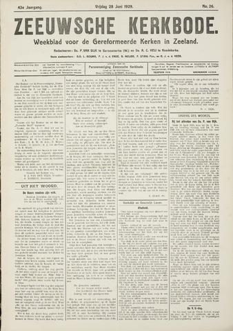 Zeeuwsche kerkbode, weekblad gewijd aan de belangen der gereformeerde kerken/ Zeeuwsch kerkblad 1929-06-28
