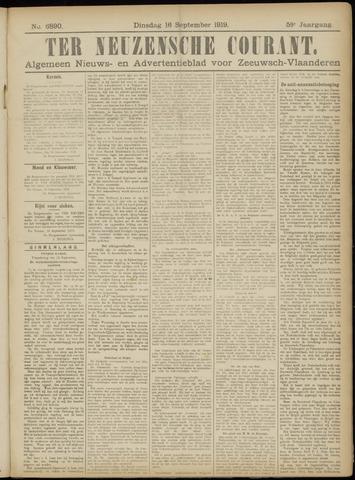 Ter Neuzensche Courant. Algemeen Nieuws- en Advertentieblad voor Zeeuwsch-Vlaanderen / Neuzensche Courant ... (idem) / (Algemeen) nieuws en advertentieblad voor Zeeuwsch-Vlaanderen 1919-09-16