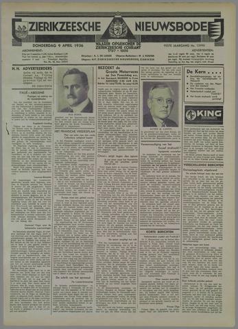 Zierikzeesche Nieuwsbode 1936-04-09