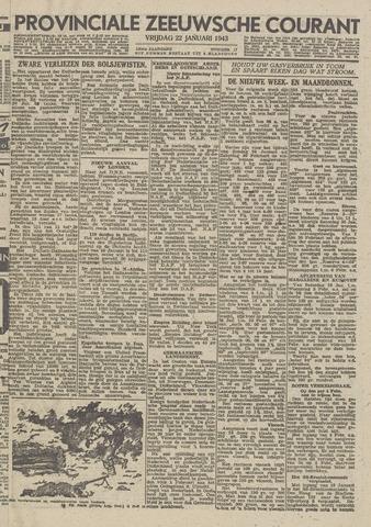 Provinciale Zeeuwse Courant 1943-01-22