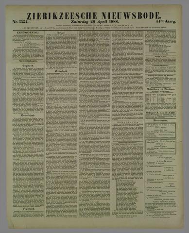 Zierikzeesche Nieuwsbode 1888-04-28