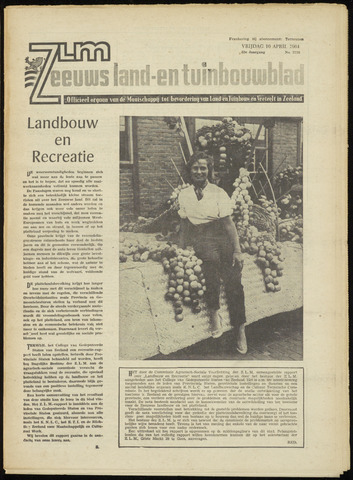 Zeeuwsch landbouwblad ... ZLM land- en tuinbouwblad 1964-04-10