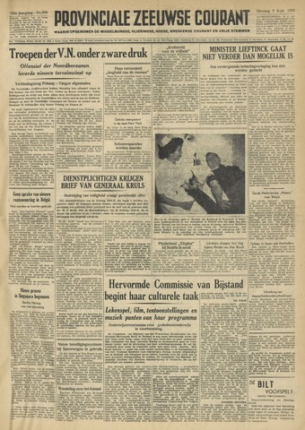 Provinciale Zeeuwse Courant 1950-09-05