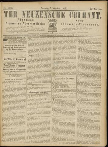 Ter Neuzensche Courant. Algemeen Nieuws- en Advertentieblad voor Zeeuwsch-Vlaanderen / Neuzensche Courant ... (idem) / (Algemeen) nieuws en advertentieblad voor Zeeuwsch-Vlaanderen 1907-10-26