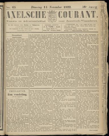 Axelsche Courant 1922-11-14