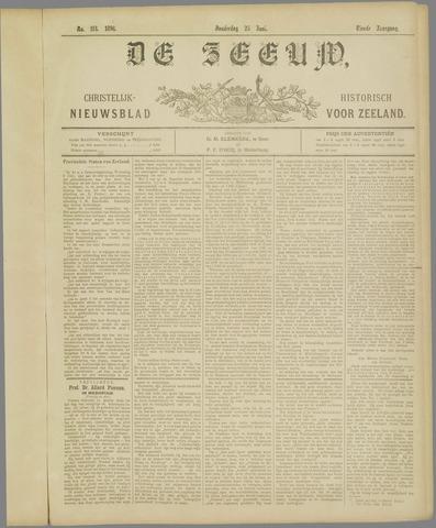 De Zeeuw. Christelijk-historisch nieuwsblad voor Zeeland 1896-06-25