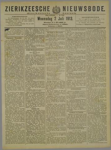 Zierikzeesche Nieuwsbode 1913-07-02