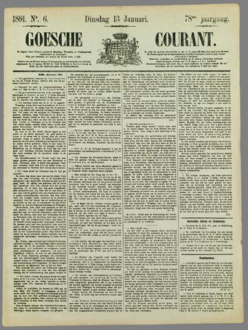 Goessche Courant 1891-01-13