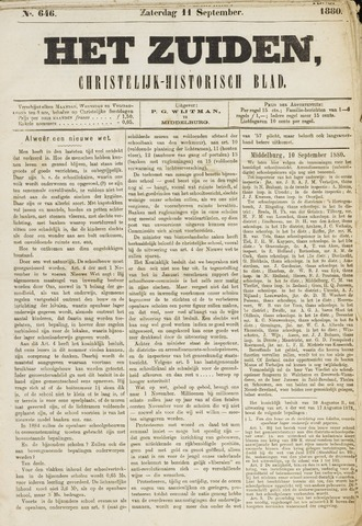 Het Zuiden, Christelijk-historisch blad 1880-09-11
