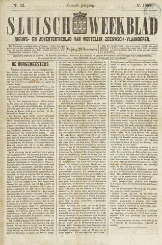 Sluisch Weekblad. Nieuws- en advertentieblad voor Westelijk Zeeuwsch-Vlaanderen 1866-12-28