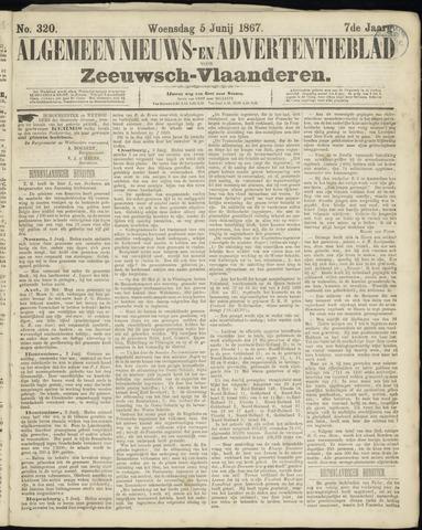 Ter Neuzensche Courant. Algemeen Nieuws- en Advertentieblad voor Zeeuwsch-Vlaanderen / Neuzensche Courant ... (idem) / (Algemeen) nieuws en advertentieblad voor Zeeuwsch-Vlaanderen 1867-06-05