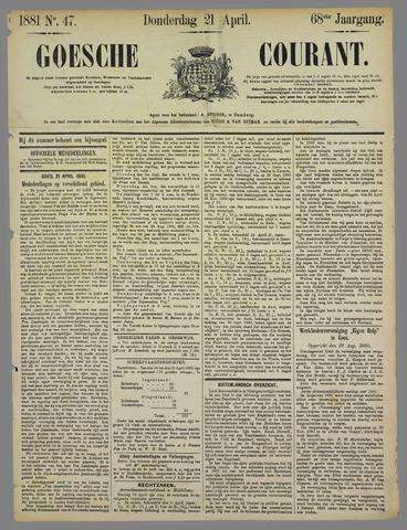 Goessche Courant 1881-04-21