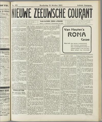 Nieuwe Zeeuwsche Courant 1912-10-31
