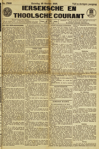 Ierseksche en Thoolsche Courant 1918-10-19