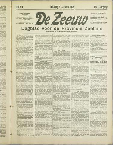 De Zeeuw. Christelijk-historisch nieuwsblad voor Zeeland 1929-01-08