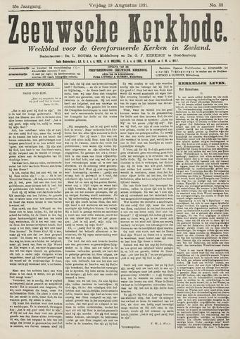 Zeeuwsche kerkbode, weekblad gewijd aan de belangen der gereformeerde kerken/ Zeeuwsch kerkblad 1921-08-19