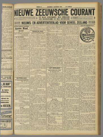 Nieuwe Zeeuwsche Courant 1927-09-17