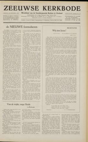 Zeeuwsche kerkbode, weekblad gewijd aan de belangen der gereformeerde kerken/ Zeeuwsch kerkblad 1958-10-10