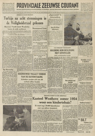 Provinciale Zeeuwse Courant 1953-10-06
