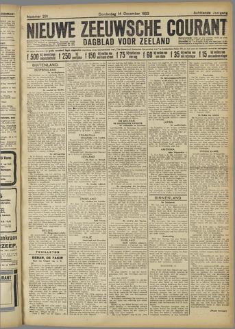 Nieuwe Zeeuwsche Courant 1922-12-14