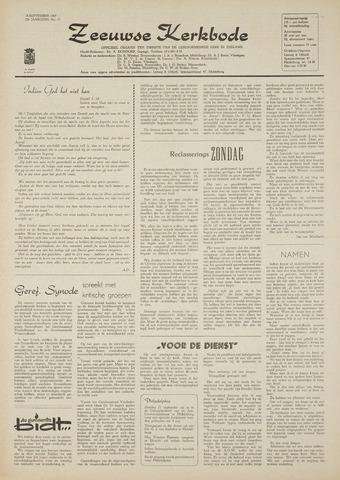 Zeeuwsche kerkbode, weekblad gewijd aan de belangen der gereformeerde kerken/ Zeeuwsch kerkblad 1969-09-18