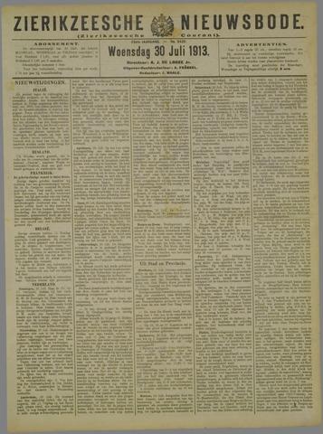 Zierikzeesche Nieuwsbode 1913-07-30