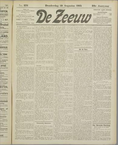 De Zeeuw. Christelijk-historisch nieuwsblad voor Zeeland 1915-08-19