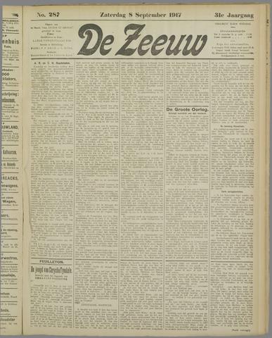 De Zeeuw. Christelijk-historisch nieuwsblad voor Zeeland 1917-09-08