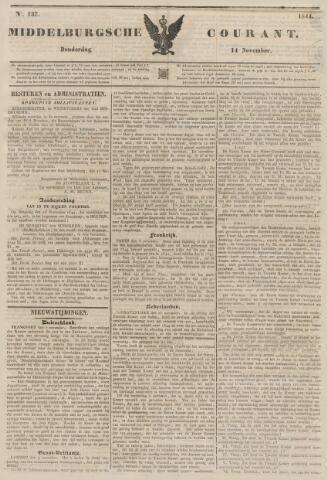 Middelburgsche Courant 1844-11-14