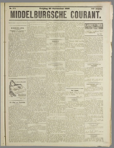 Middelburgsche Courant 1925-11-20