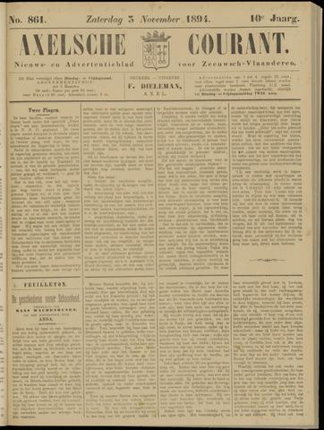 Axelsche Courant 1894-11-03