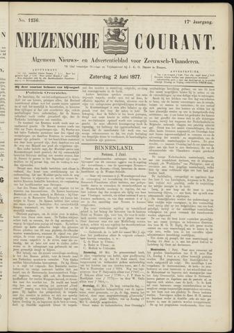 Ter Neuzensche Courant. Algemeen Nieuws- en Advertentieblad voor Zeeuwsch-Vlaanderen / Neuzensche Courant ... (idem) / (Algemeen) nieuws en advertentieblad voor Zeeuwsch-Vlaanderen 1877-06-02