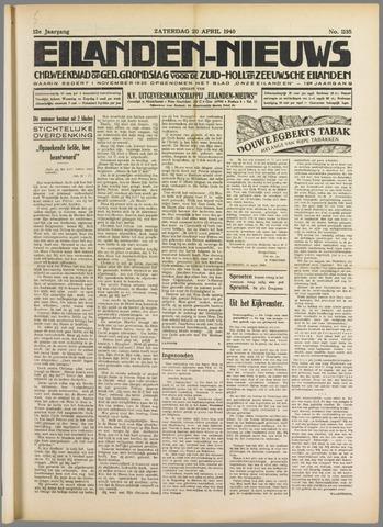 Eilanden-nieuws. Christelijk streekblad op gereformeerde grondslag 1940-04-20