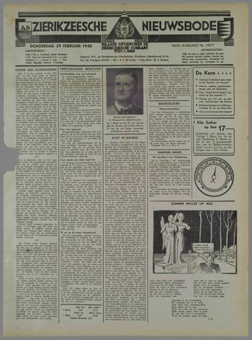 Zierikzeesche Nieuwsbode 1940-02-29