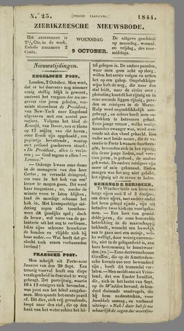 Zierikzeesche Nieuwsbode 1844-10-09