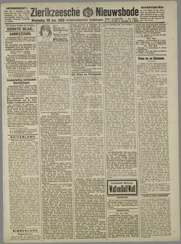 Zierikzeesche Nieuwsbode 1925-01-28