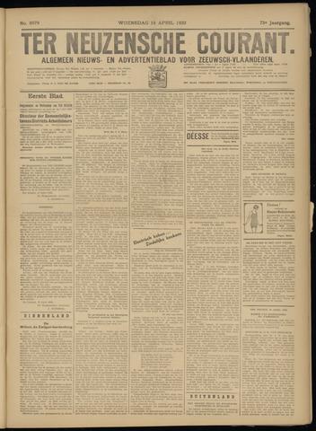Ter Neuzensche Courant. Algemeen Nieuws- en Advertentieblad voor Zeeuwsch-Vlaanderen / Neuzensche Courant ... (idem) / (Algemeen) nieuws en advertentieblad voor Zeeuwsch-Vlaanderen 1933-04-19