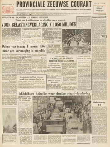 Provinciale Zeeuwse Courant 1964-08-21