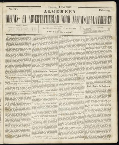 Ter Neuzensche Courant. Algemeen Nieuws- en Advertentieblad voor Zeeuwsch-Vlaanderen / Neuzensche Courant ... (idem) / (Algemeen) nieuws en advertentieblad voor Zeeuwsch-Vlaanderen 1872-05-01